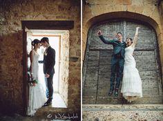 mariage Beaujolais séance photo couple Photographe: William Lambelet Chaussures, chaussettes et cravate orange