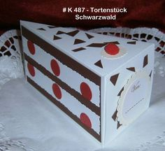 Geldgeschenke - Tortenstück Gastgeschenk Geschenkbox Box - ein Designerstück von Bastelkoenigin-de bei DaWanda