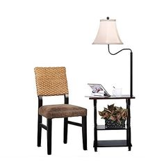 Table With Built In Lamp Amusing Madison Floor Lamp With End Table Swing Arm White Shade With Built 2018
