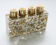 """""""Golden Grotto"""" lipstick case, Lucien Lelong, ca. 1937; FIDM F2006.877.18a-i"""