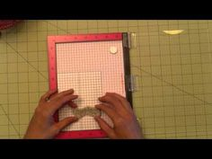 MISTI video on how to stamp rubber cling mounts straight. Grid download.