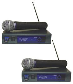 2 Nady DKW3 Wireless VHF Handheld Microphone Systems With Up To 300 Foot Range -- Read more reviews of the product by visiting the link on the image.
