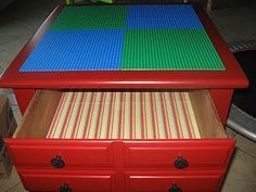 DIY Lego table! OK now I need an old end table!!! I know someone who needs this!!!!!