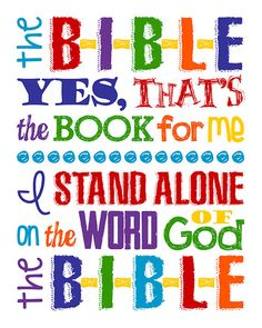 Please read entire description before purchase :)  The B-I-B-L-E yes thats the book for me :)  A sweet verse from one of my favorite little songs. Great for…