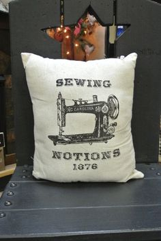 Vintage Sewing Notions Pillow by SimplyStichedbyMKM on Etsy