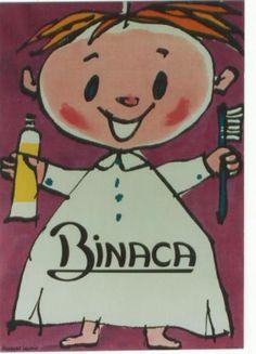 Original-vintage-poster-BINACA-TOOTH-PASTE-KIDS-ENJOY