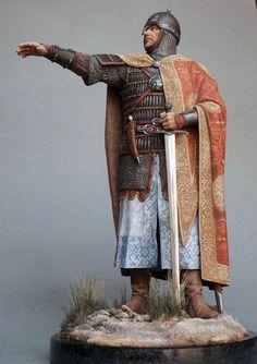 Regis of Achonia Medieval Knight, Medieval Fantasy, Vikings, Norman Knight, Armadura Medieval, Angel Warrior, Military Figures, Arm Armor, Fantasy Paintings