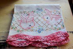 Vintage bird embroidery