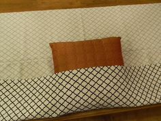 This is the easiest pillow cover ever.  Great idea for people that don't sew.