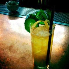 Pimm's Cup - lemon, cucumber, mint sprig, ginger ale, Pimm's No. 1.