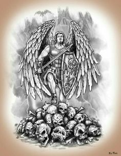 Guardian Angel/ Knight for my front page wallpaper. St. Michael Tattoo, Archangel Michael Tattoo, Forearm Tattoos, Body Art Tattoos, Sleeve Tattoos, Tattoos Skull, Tatoos, Guardian Angel Tattoo, Knight Tattoo