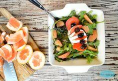 Grapefruit Mozarella Salad. Gluten free. Vegetarian, Low carb recipe. By www.sweetashoney.co.nz