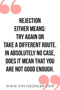 rejection should only ever be a redirection. Keep reading to find out why making peace with failure might be your key to success. Inspirational, motivational and Uplifting quote Uplifting Quotes, Positive Quotes, Motivational Quotes, Monday Inspirational Quotes, Failure Quotes Motivation, Funny Failure Quotes, Quotes About Failure, Success Quotes, Wisdom Quotes