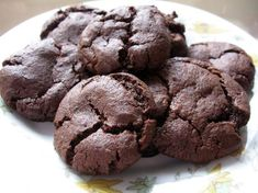 A chewy, moist, chocolate cookie. Easily vegan with vegan margarine. If you make drop cookies, chilling is not necessary but recommended. Egg Free Desserts, Eggless Desserts, Eggless Recipes, Eggless Baking, Egg Free Recipes, Vegan Desserts, Just Desserts, Sweet Recipes, Baking Recipes