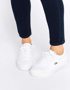 Buy Lacoste Classic Straightset Trainers at ASOS. Get the latest trends with ASOS now. Lacoste Sneakers, Lacoste Shoes Women, Lacoste Trainers, Sneakers Mode, Adidas Shoes Women, New Sneakers, Sneakers Fashion, Canvas Sneakers, White Slip On Sneakers