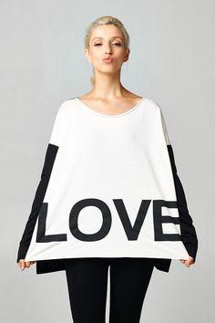 L.O.V.E. color blocked tunic top CA$39.99