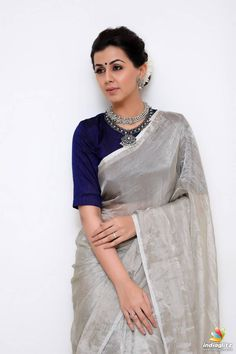 Nikki Galrani Photoshoot Stills Dress Indian Style, Indian Dresses, Indian Outfits, Western Dresses, Indian Wear, Saree Poses, Bridal Blouse Designs, Kerala Saree Blouse Designs, Sari Dress