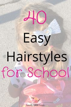 40 Easy Hairstyles for School. Easy hairstyles for school girls. Easy hairstyles for those mornings you are running late for school. 40 hairstyles for little girls. Easy Hairstyles For School, Cute Hairstyles, Kids Hairstyle, Late For School, Back To School, Organizing Hair Accessories, Running Late, One Hair, Different Hairstyles