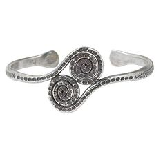 NOVICA 925 Sterling Silver Cuff Bracelet Young Fern Tendrils * You can get more details by clicking on the image.