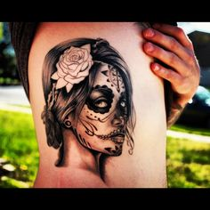Day of the Dead girl tattoo.