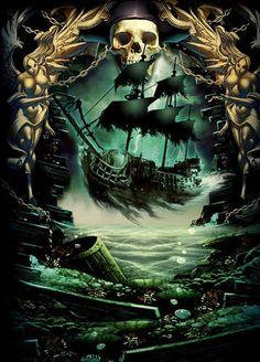 """HOLANDES ERRANTE También llamado """"El Holandés Volador"""" es muy conocido por la saga de Piratas del Caribe pero es una leyenda real, que cuenta que un marinero llamado Van der Deckem contrarió a Dios, al decir: """"Ni siquiera Dios podría..."""