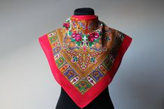 Vintage wool shawl.Floral scarf.Floral от StyleVintageShop на Etsy