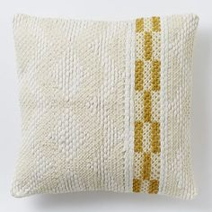 Diamond Color Stripe Pillow Cover - Horseradish | West Elm