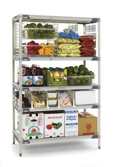 MetroMax i Polymer Shelving is designed with advanced polymers for longer-life performance with easy-to-clean smooth surfaces. Perfect for cooler room storage. Stainless Steel Shelving, Stainless Kitchen, Stainless Steel Wire, Wine Storage, Storage Room, Mobile Applications, Epoxy Coating, Retail Merchandising, Shelving Systems