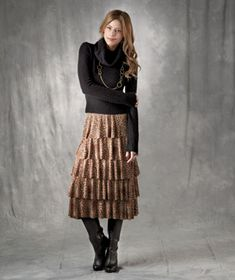 Women's Figure-Flattering Ruffle Skirts