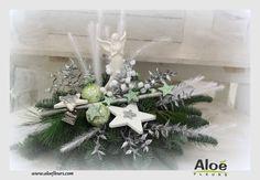 composition florale de noel sapin aloé fleurs10