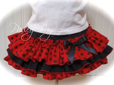 Beautiful Parley Ray Lady Bug All Around Ruffle Skirt by ParleyRay, $45.00
