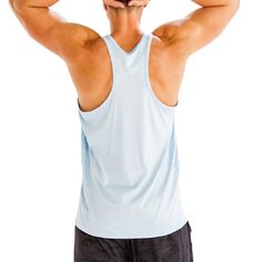 Alanic Global, reputed manufacturer, offers best quality of soft blue fitness tank tee at wholesale rate in USA, Australia and Canada.