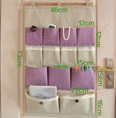 13 pocket door Hanging Tidy Organiser Storage Rack Zakka fluid storage bag multi-layer fabric bag wall door after the bag sorting bags big size Minimalist Hanging Wall Organizer - The concept of a minimalist home is the maximum use of space. Storage Rack, Diy Storage, Hanging Wall Organizer, Fabric Organizer, Diy Rangement, Hanging Fabric, Wall Organization, Fabric Storage, Pocket Doors