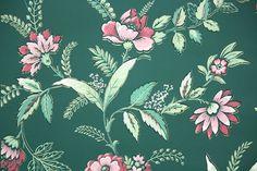 1950s Floral Vintage Wallpaper – Hannah's Treasures Vintage Wallpaper
