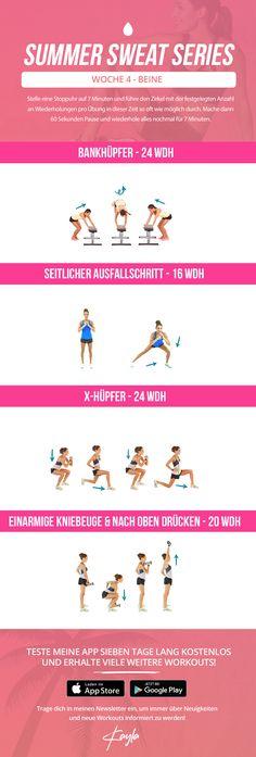 kayla itsines summer sweat series, summer sweat series monday week 4 , free kayla itsines workout