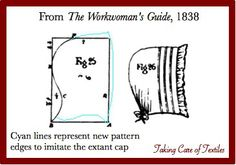 Taking Care of Textiles Blog - article about patterning a 19th century cap