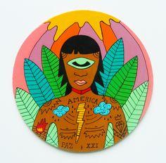 Chamán del Amazonas - Pintura artesanal.