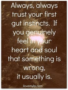 Gut feeling = the sixth sense