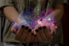 ...she held the very galaxy in her hands...