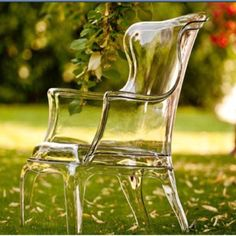 Would prefer inside, but either way, gorg! #Clear Chair #decor