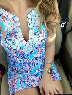 Lilly Pulitzer dress for the Carolina cup