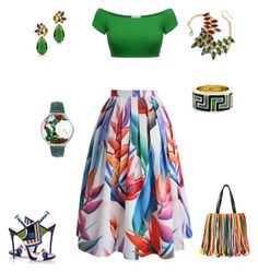 """""""Green way"""" by sandra-love-1 on Polyvore featuring Chicwish, Emilio Pucci, Dsquared2, Tiffany & Co., Amrita Singh, Forzieri and Whimsical Watches"""