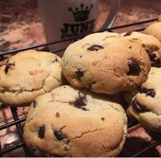 These cookies are so perfect. I love cookies that are chewy, crispy, slightly sweet and filled with delicious dark choc. No Flour Pancakes, No Flour Cookies, Paleo Cookies, Flour Recipes, Gf Recipes, Dessert Recipes, Cooking Recipes, Gluten Free Baking, Gluten Free Desserts