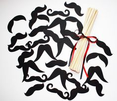 24 DIY Photo Booth Props Mustache on a Stick   by Acherryortwo, $15.99   http://www.etsy.com/shop/acherryortwo