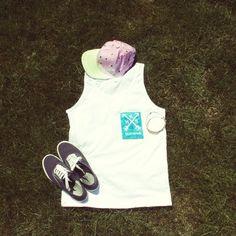 HBB Clothing blue pocket tank. Available for pre order» www.hotbandboys.storenvy.com   #hbbclothing #pocket #tank #summer #keds #snapback