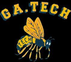 Georgia Tech Yellow Jackets Primary Logo (1969) - Bee under script