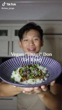 Rice Recipes Vegan, Vegan Foods, Vegan Dishes, Vegan Vegetarian, Vegetarian Recipes, Cooking Recipes, Healthy Recipes, Healthy Snacks, Japanese Dishes