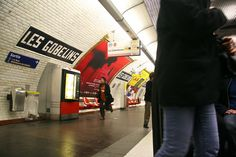 Métro Les Gobelins, Paris 13e, M7 Les Gobelins, Metro Paris, Till We Meet Again, Metro Subway, Metro Station, France, City Lights, Parisian, Times Square