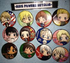 I wish I could buy these...so cute! - Axis Powers Hetalia Pinback Button Set  Germany by IcyPanther, $20.00