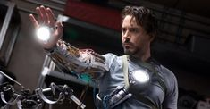 """Pictures at 100 Tony Stark (Robert Downey Jr.) works on a prototype of his """"Iron Man"""" armor.) works on a prototype of his """"Iron Man"""" armor. Marvel Cinematic Universe Movies, Best Marvel Movies, Marvel Universe, Jeff Bridges, Nick Fury, Bucky Barnes, Valuable Comic Books, Anthony Russo, Iron Man 2008"""